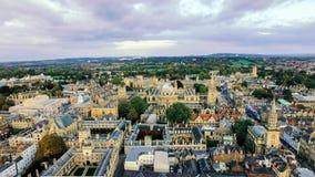 Foto de la visión aérea de la Universidad de Oxford Imagen de archivo libre de regalías