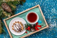 Foto de las decoraciones del Año Nuevo Fotografía de archivo libre de regalías