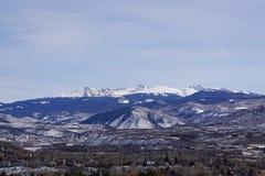 Foto de las montañas en Eagle, Colorado fotografía de archivo libre de regalías