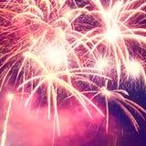 Foto de los fuegos artificiales del día de fiesta Fotografía de archivo