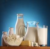 Foto de los productos lácteos. Foto de archivo libre de regalías