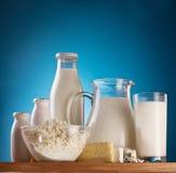 Foto de los productos lácteos. Imagen de archivo libre de regalías