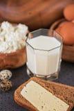 Foto de los productos lácteos Imagenes de archivo
