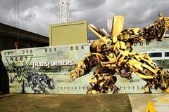 Foto de los transformadores del ` el panel del cartel de la pared de la información del ` del paseo Fotos de archivo