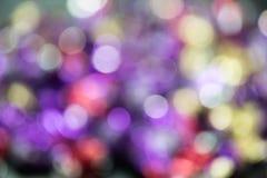 Foto de luzes da cor com bokeh natural Fotografia de Stock Royalty Free