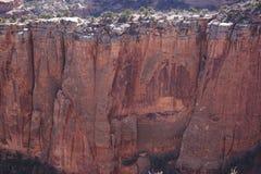 Foto de montañas en el monumento del Mesa, Colorado Imagen de archivo