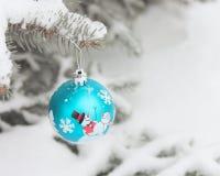 Foto de papel de tarjetas de la bola de la Navidad Imagen de archivo