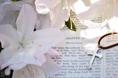 Foto de Pascua del día de fiesta de los versos de la biblia Fotos de archivo