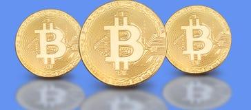 Foto de portada para el medios perfil social: un sistema de bitcoins en un fondo sólido Fotos de archivo libres de regalías