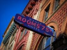 Foto de Seattle Washington de la señalización histórica para el hotel imagen de archivo libre de regalías