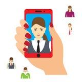 Foto de Selfie no smartphone Fotografia de Stock