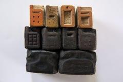 Foto de teléfonos de madera Foto de archivo