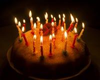 Foto de um bolo de aniversário Fotos de Stock