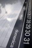 Calendário italiano Imagem de Stock