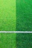 Foto de um campo de esportes sintético verde da grama com a linha branca sh imagem de stock royalty free