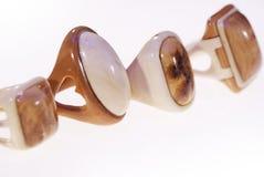 Foto de um grupo de anéis da madeira imagem de stock