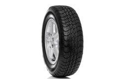 Foto de um pneumático do carro (pneu) isolado Imagens de Stock Royalty Free