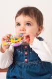 Foto de uma criança nova imagem de stock