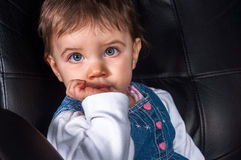 Foto de uma criança nova imagens de stock
