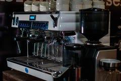 Foto de uma máquina de café fotografia de stock royalty free