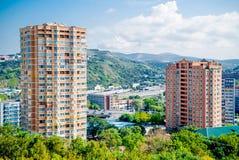 Foto de uma paisagem da cidade fotografia de stock