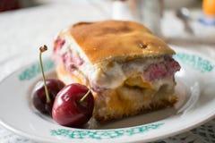 Foto de uma torta da cereja Imagens de Stock Royalty Free