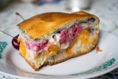 Foto de uma torta da cereja Imagem de Stock