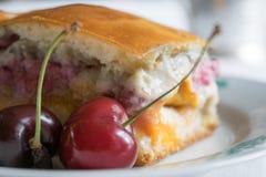 Foto de uma torta da cereja Foto de Stock Royalty Free