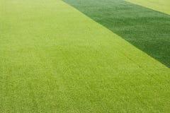 Foto de un campo de deportes sintético verde de la hierba Imagen de archivo