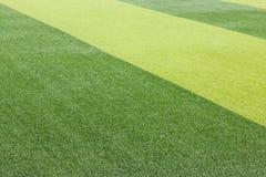 Foto de un campo de deportes sintético verde de la hierba Imagen de archivo libre de regalías