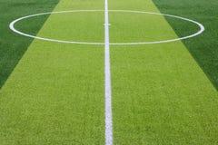 Foto de un campo de deportes sintético verde de la hierba con la línea blanca sh Fotos de archivo