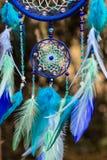 Foto de un dreamcatcher hecho a mano Fotos de archivo libres de regalías