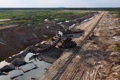 Foto de un excavador gigante de la mina Foto de archivo libre de regalías