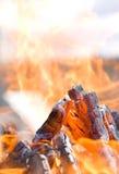 Foto de un fuego Fotografía de archivo libre de regalías