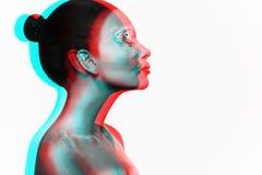 Foto de un modelo de la chica joven con una mirada africana Imagenes de archivo