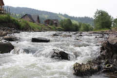 Foto de un primer del río de la montaña Fotografía de archivo libre de regalías