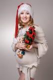 Foto de una mujer embarazada joven hermosa Imagen de archivo libre de regalías