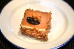Foto de una torta de chocolate dulce deliciosa macra brillante fotografía de archivo libre de regalías