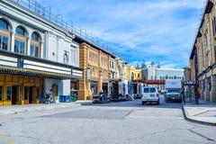 Foto de Warner Bros Viaje Hollywood, opiniones exteriores del estudio Warner Brothers Studios Buildings Fotos de archivo libres de regalías