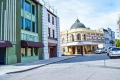 Foto de Warner Bros Viaje Hollywood, opiniones exteriores del estudio Warner Brothers Studios Buildings Imagenes de archivo