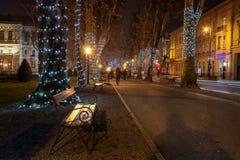 Foto de Zagreb tirada en el tiempo del advenimiento Fotografía de archivo libre de regalías