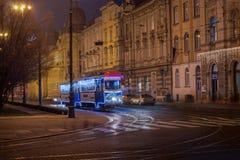 Foto de Zagreb tirada en el tiempo del advenimiento Foto de archivo