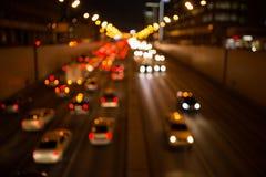 Foto Defocused de la ciudad de la noche Foto de archivo