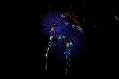 Foto dei fuochi d'artificio Fotografia Stock