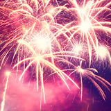 Foto dei fuochi d'artificio di festa Fotografia Stock
