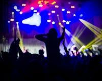 Foto dei giovani divertendosi al concerto rock, stile di vita attivo, Fotografie Stock
