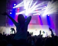Foto dei giovani divertendosi al concerto rock, stile di vita attivo, Fotografie Stock Libere da Diritti