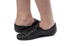 Foto dei piedi del ballerino attraversati Immagini Stock
