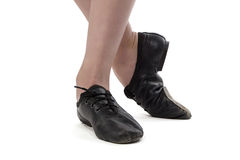 Foto dei piedi della ragazza del ballerino Immagini Stock Libere da Diritti