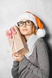 Foto del Año Nuevo de la muchacha linda Fotografía de archivo libre de regalías